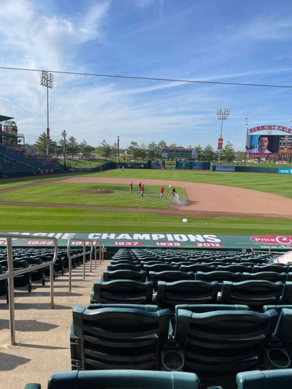 Hammons Field, section: D, row: 19, seat: 21