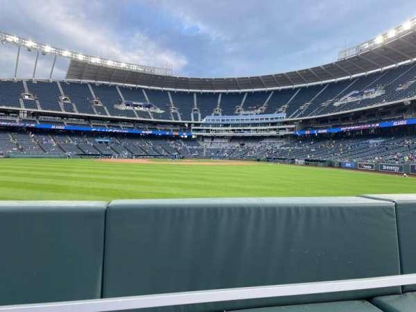 Kauffman Stadium, section: 103, row: A, seat: 15