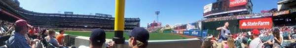 Angel Stadium, section: field box 133, row: B, seat: 7