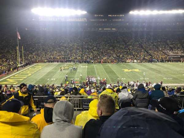 Michigan Stadium, section: 3, row: 62, seat: 16