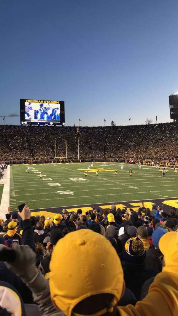 Michigan Stadium, section: 37, row: 16, seat: 34