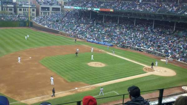 Wrigley Field, section: 308L, row: 4, seat: 11