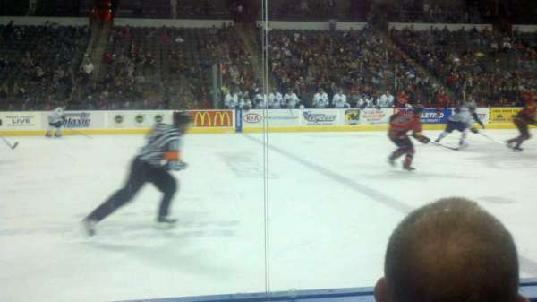 Sears Centre, section: 102, row: 2, seat: 8