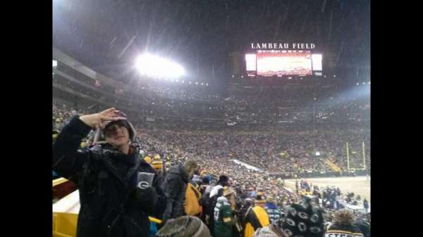 lambeau field, section: 111, row: 30, seat: 5