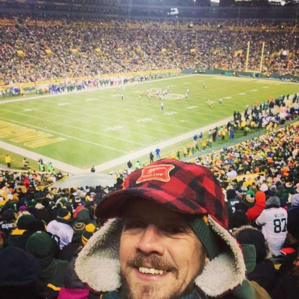lambeau field, section: 131, row: 53, seat: 26
