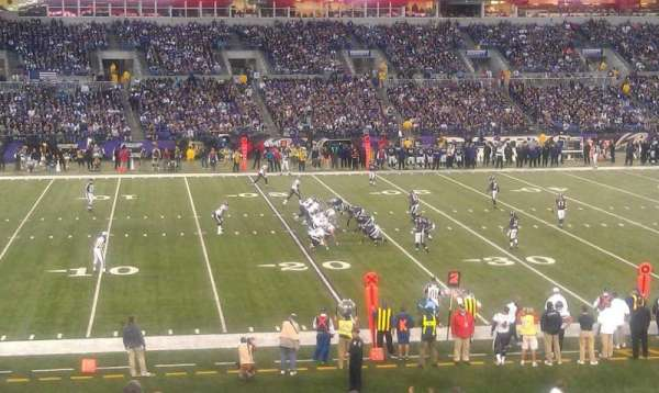 M&T Bank Stadium, section: 102, row: 30, seat: 19