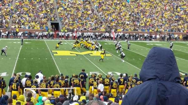 Michigan Stadium, section: 24, row: 22, seat: 24