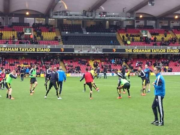 Vicarage Road, section: SEJ3, row: CC, seat: 71