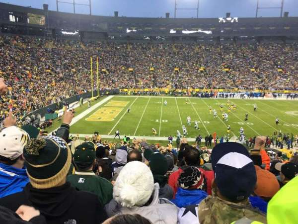 Lambeau Field, section: 114, row: 43, seat: 9