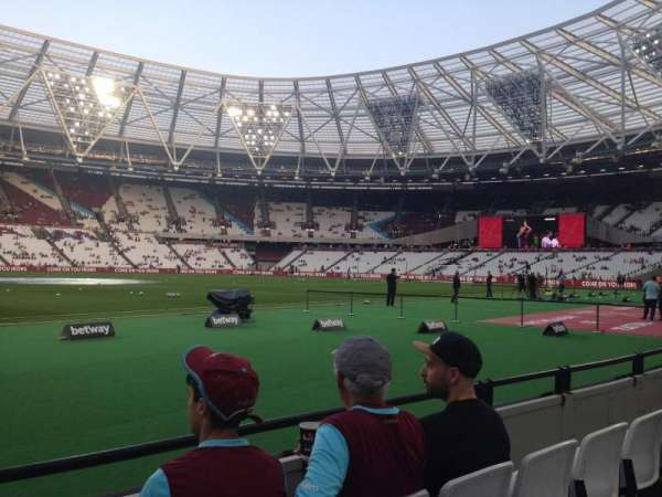 London Stadium, section: 105, row: 3, seat: 370