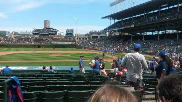 Wrigley Field, section: 113, row: 2, seat: 1