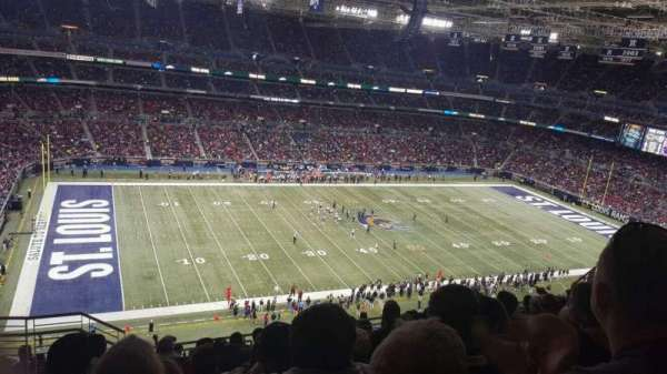 The Dome at America's Center, section: 417, row: II, seat: 21