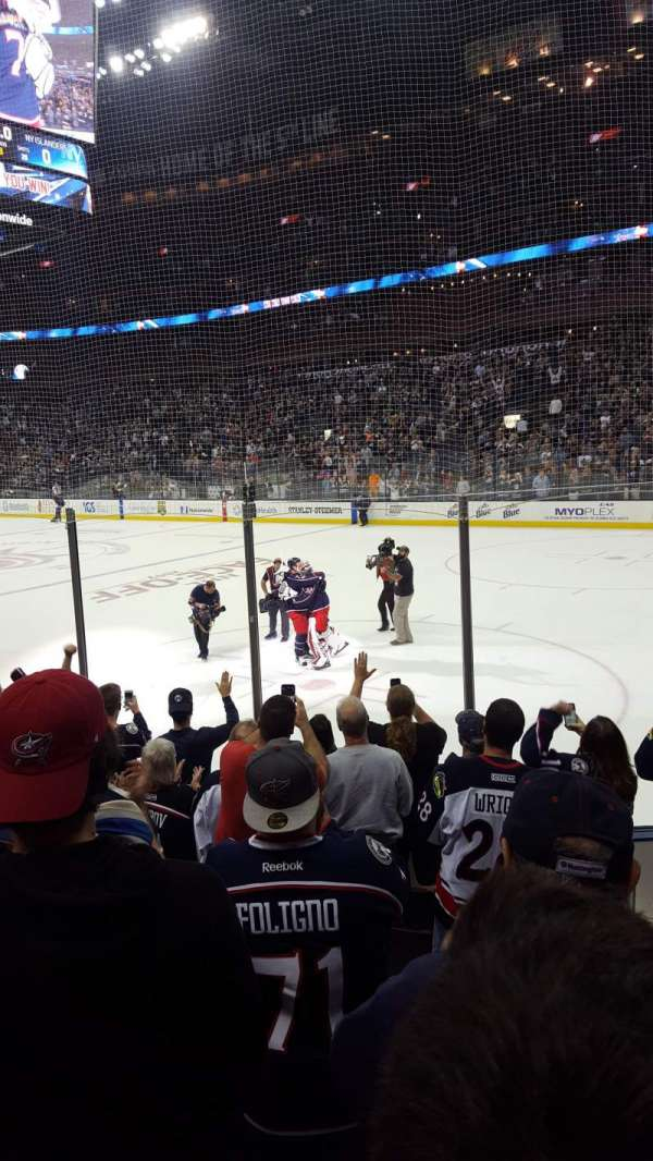Nationwide Arena, section: 101, row: H, seat: 8