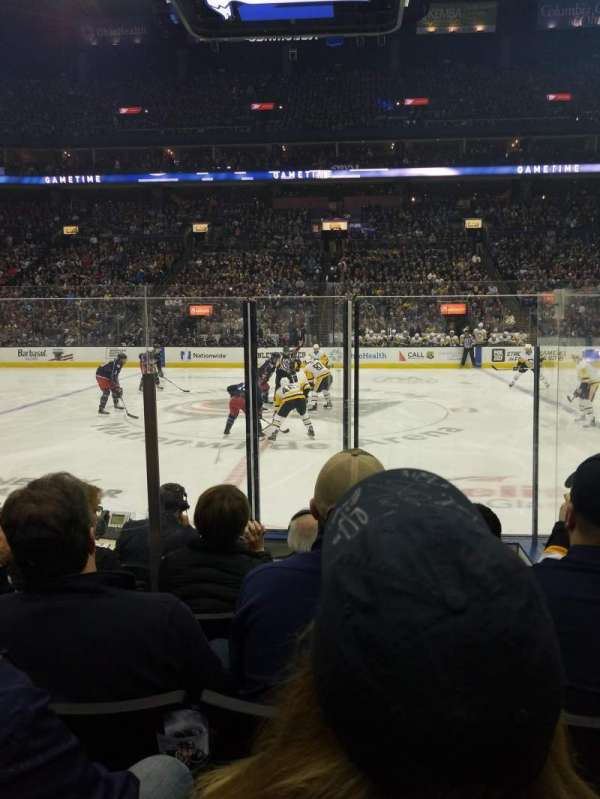 Nationwide Arena, section: 114, row: F, seat: 16