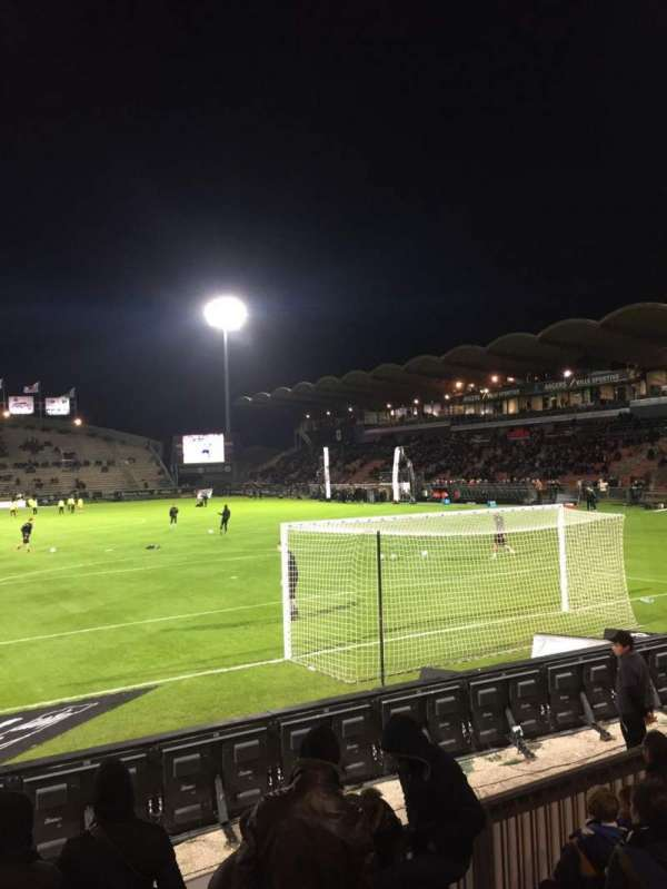 Stade Raymond Kopa, section: Coubertin, row: F, seat: 125