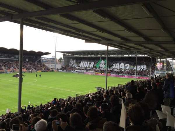 Stade Raymond Kopa, section: St Leonard Laterale, row: V, seat: 169