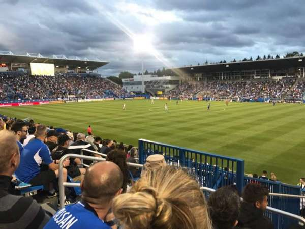 Stade Saputo, section: Sud, row: 120, seat: N28