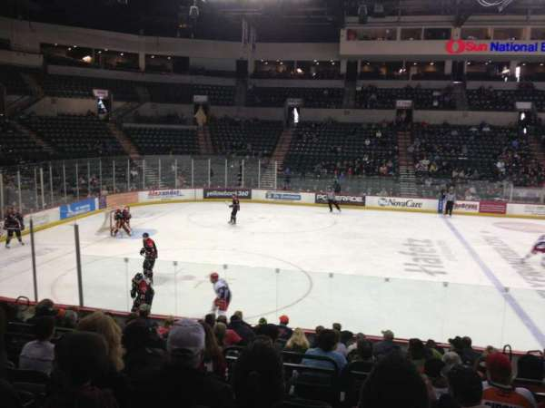 Cure Insurance Arena, section: 117, row: F, seat: 5