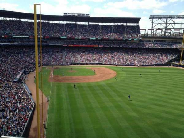 Turner Field, section: 433L, row: 1, seat: 104