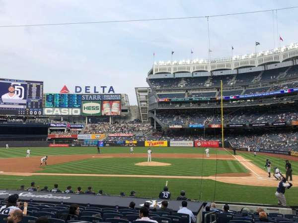 Yankee Stadium, section: 122, row: 4, seat: 12