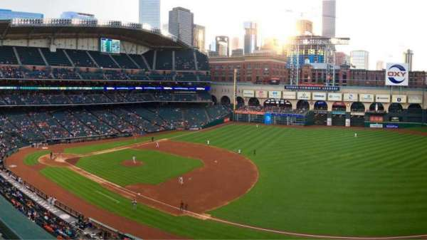 Minute Maid Park, section: 329, row: 1, seat: 7