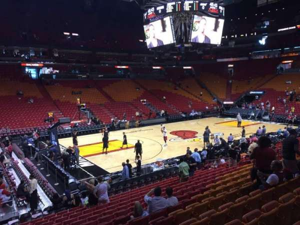 American Airlines Arena, section: 109, row: 17, seat: 01