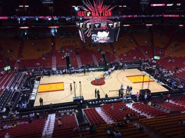 American Airlines Arena, section: 325, row: 01, seat: 13