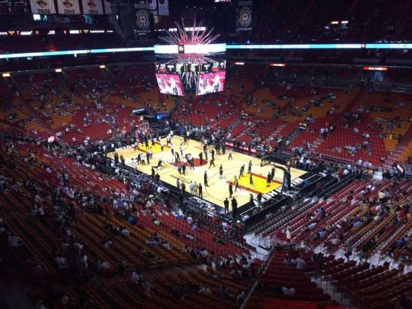 American Airlines Arena, section: 305, row: 03, seat: 01