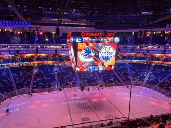 Rogers Place, section: 221, row: 2, seat: 1