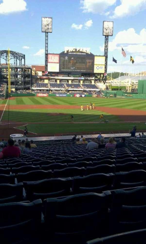 PNC Park, section: 113, row: w, seat: 15, 16