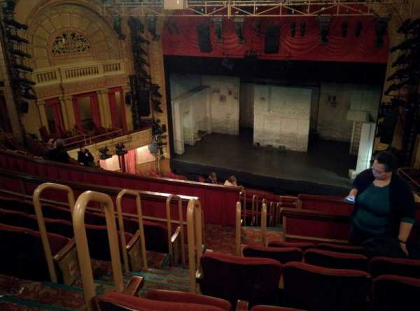 Ethel Barrymore Theatre, section: Rear Mezzanine R, row: F, seat: 8