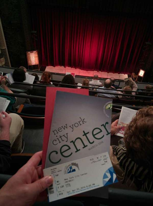 New York City Center, section: Balcony, row: F, seat: 132