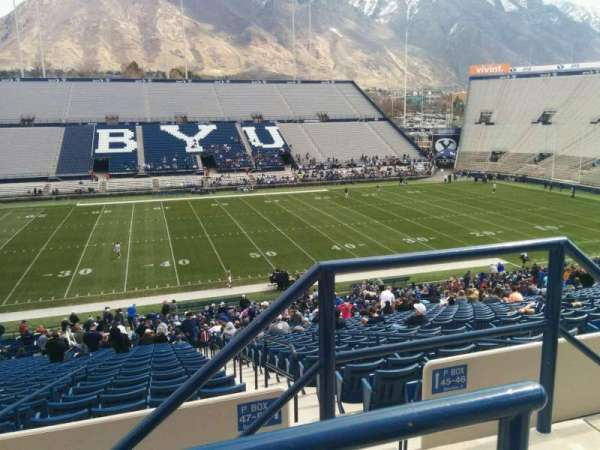 LaVell Edwards Stadium, section: 106, row: 2, seat: 2