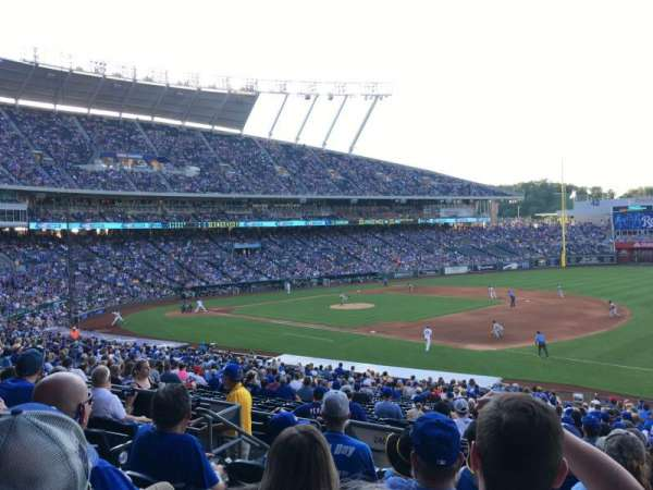 Kauffman Stadium, section: 240, row: FF, seat: 7