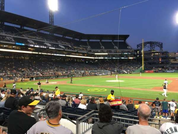 PNC Park, section: 109, row: E, seat: 12