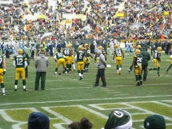 Lambeau Field, section: 138, row: 1, seat: 5