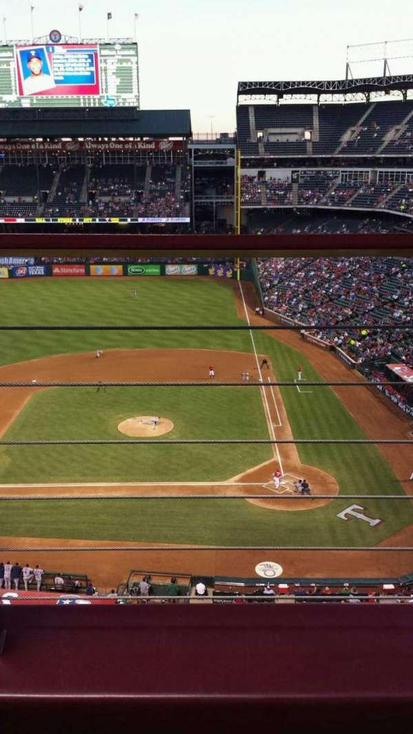Globe Life Park in Arlington, section: 321, row: 2, seat: 8
