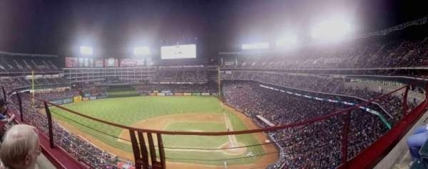 Globe Life Park in Arlington, section: 321, row: 2, seat: 7