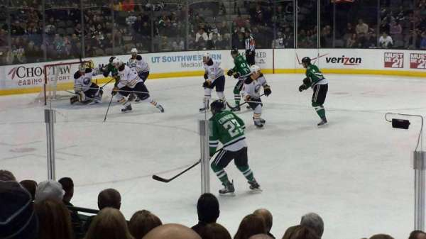 American Airlines Center, section: 107, row: J, seat: 8