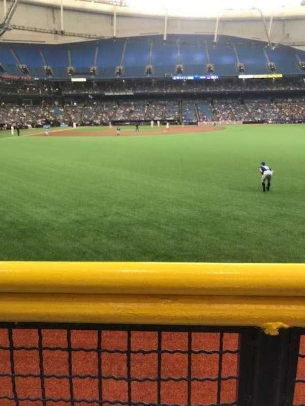 Tropicana Field, section: 142, row: 1, seat: 1