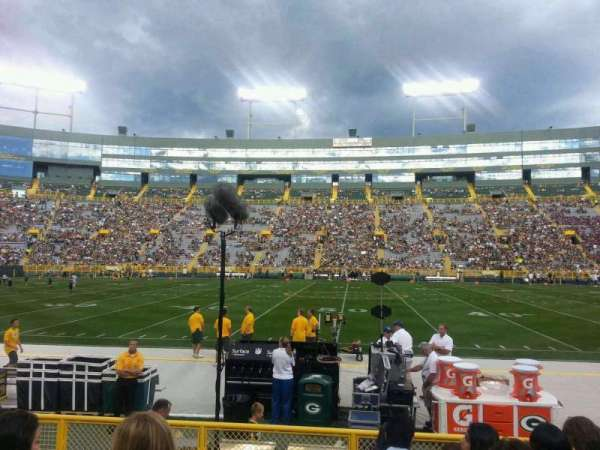 Lambeau Field, section: 120, row: 7, seat: 15