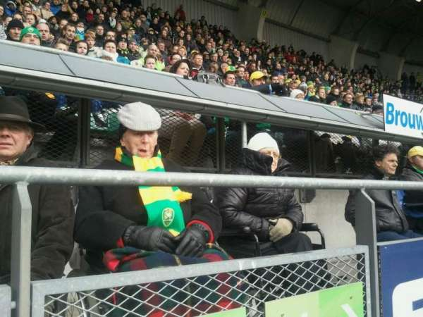 Cars Jeans Stadion, section: vak -W, row: 1, seat: 000