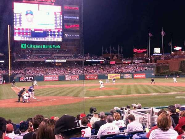 Citizens Bank Park, section: F, row: 11, seat: 2