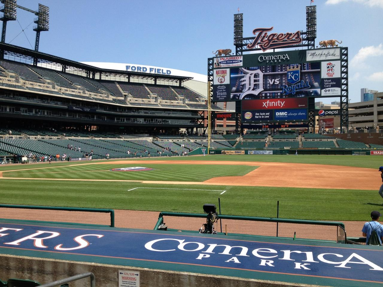 Pin detroit tigers comerica park photo mural wallpaper on for Comerica park wall mural