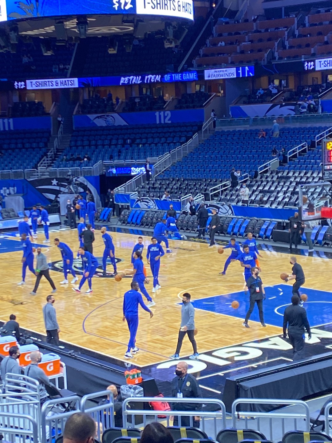 Amway Center Section 103 Row 17 Seat 4