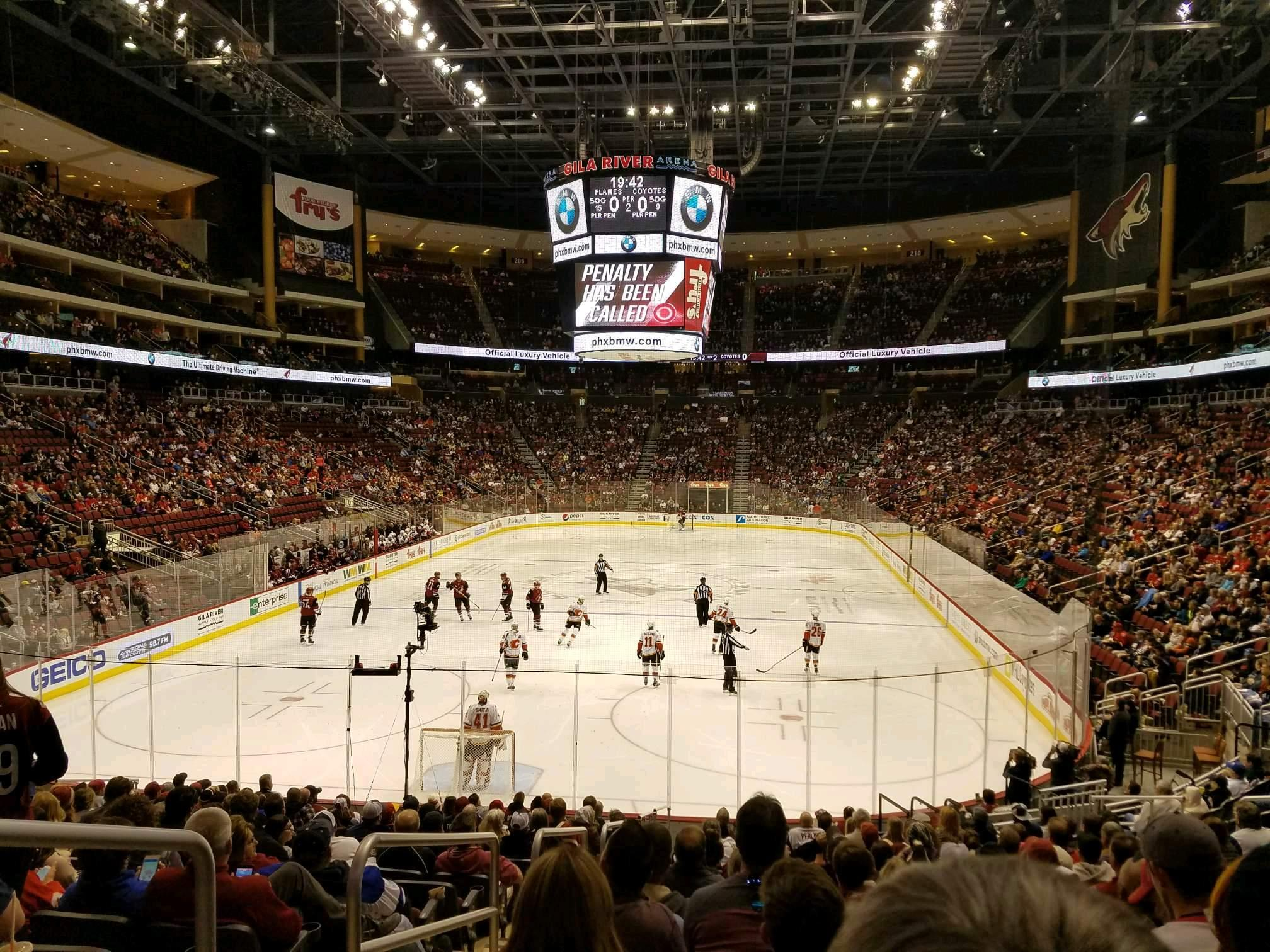 Gila River Arena Section 116 Row R Seat 22