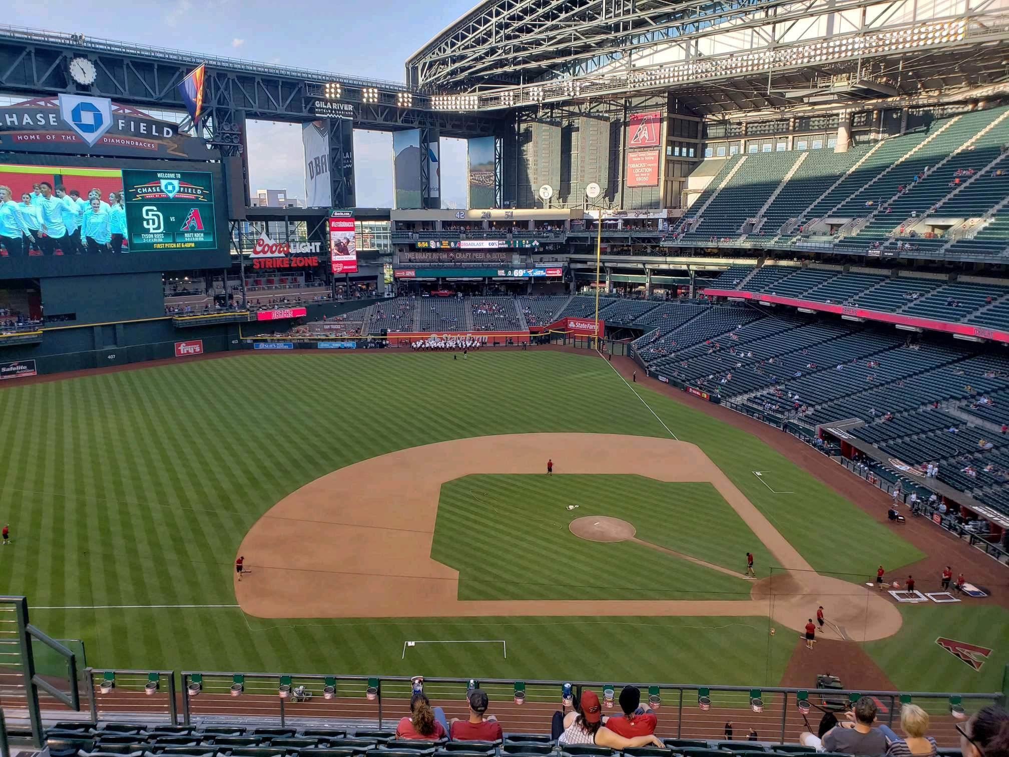 Chase Field Section 322 Row 9 Seat 10