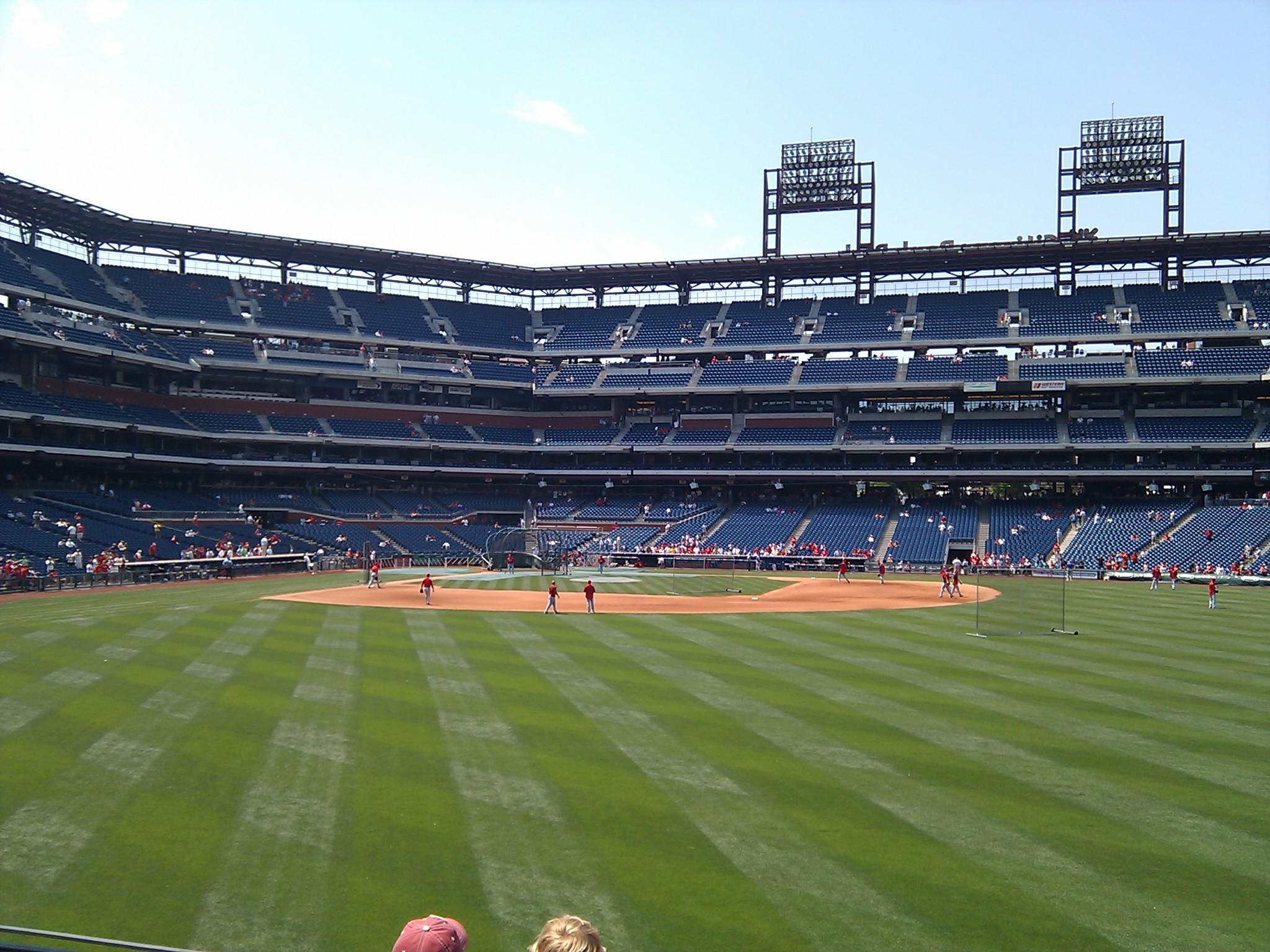 Citizens Bank Park Section 103 Row 4 Seat 10