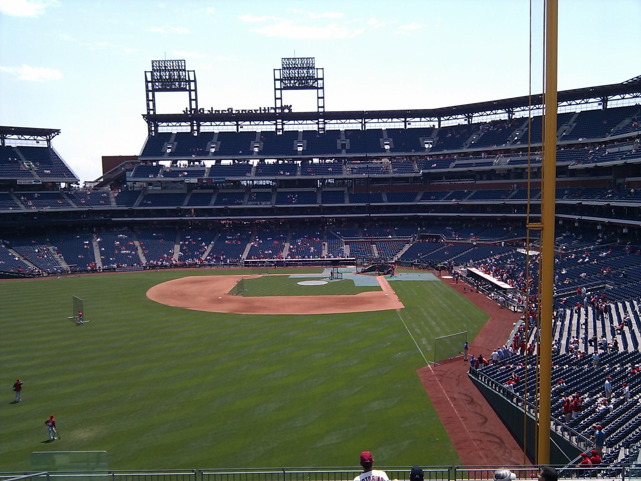 Citizens Bank Park Section 241 Row 11 Seat 10