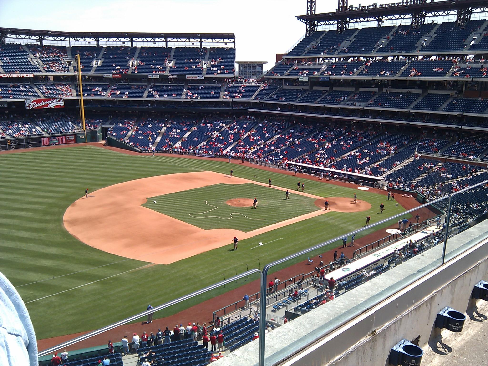 Citizens Bank Park Section 329 Row 2 Seat 24